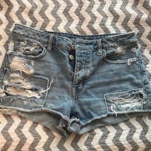 High rise, American Eagle jean shorts